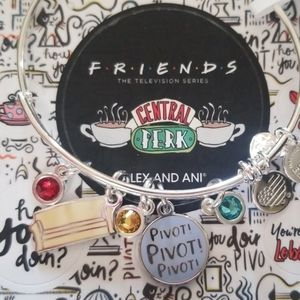"Alex and Ani ""friends"" couch and pivot bangle"